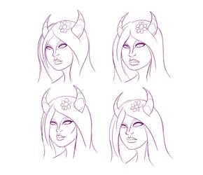 Lilith Head Sketches by Brutalwyrm