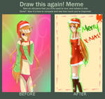 Merry Christmas-Before and After by Maka-Phoenixflare