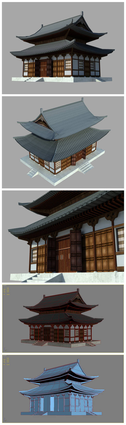 a Japanese temple - gameready