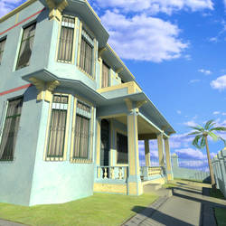 Cuban House - preview render