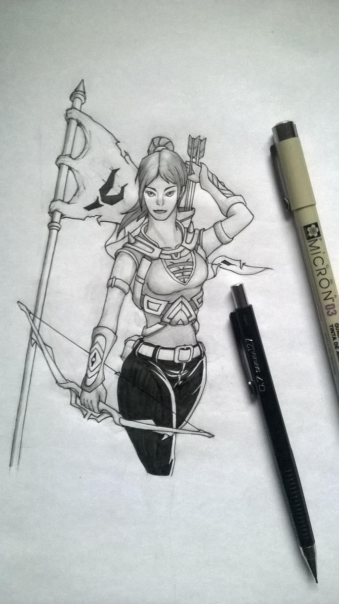 Illyana - Archer by VivekJagtap