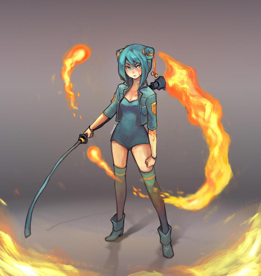 Flame Reaper by LisEihwaz