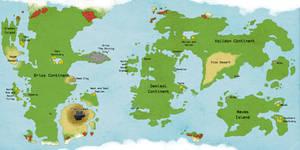 Vestaleon - World Map by Nigiri-Gecko