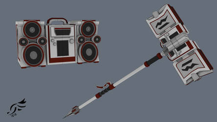 'Vindictive Ruin' - RWBY OC Weapon by DenalCC1010