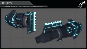 'Iustita' - RWBY OC Weapon (Commission) by DenalCC1010