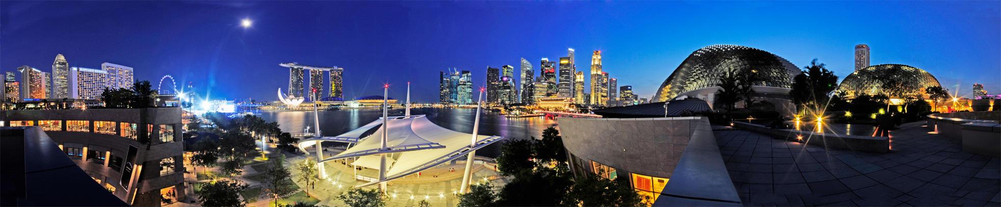 Singapore Skyline by rh89