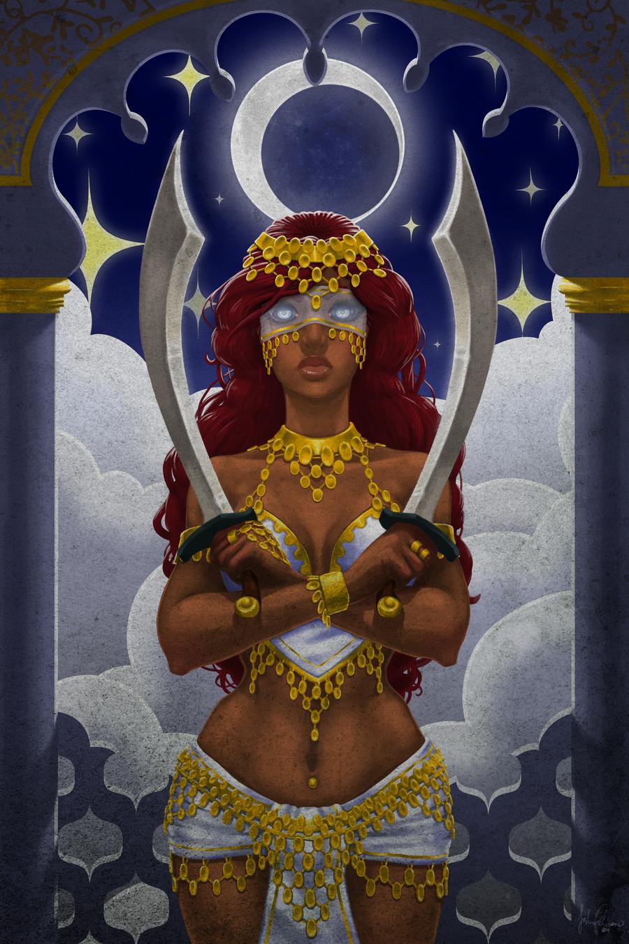Serafín: Ainieye Banu-Razin, la luz del desierto Two_of_Swords___Arabian_Nights_by_00chalcedony00