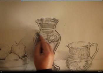 Making still life drawing Tutorial  video by artsoni