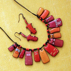 Cats jewelry set by BeautySpotCrafts