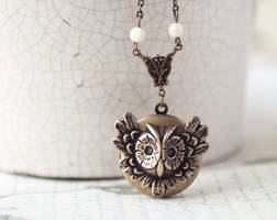Owl locket by BeautySpotCrafts