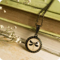 Petite Dragonfly Necklace by BeautySpotCrafts