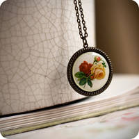 Vintage Flowers pendant by BeautySpotCrafts