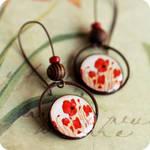 Red Poppies earrings