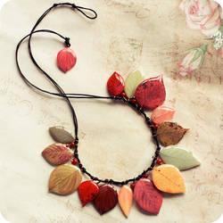 Melody of Fall necklace by BeautySpotCrafts