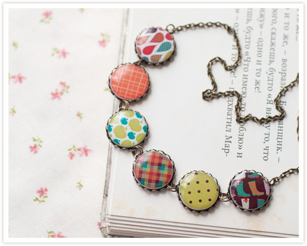 Summer Pattern necklace by BeautySpotCrafts