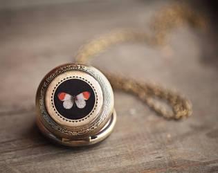 Butterfly pocket watch by BeautySpotCrafts