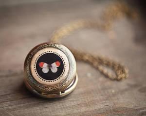 Butterfly pocket watch