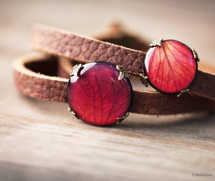 Wrap bracelet - Red Rose by BeautySpotCrafts