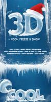 New 3D Ice Cool, Freeze and Snow Text Effects