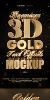 3D Gold Text Effects Vol.1