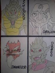 JCA The villains by Ookamiokoto
