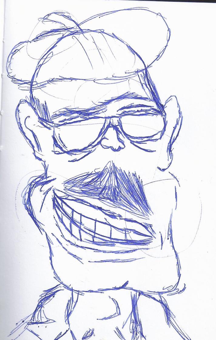 Sketchbook Showcase-Caricature: Hollywood Director by hobojoe93