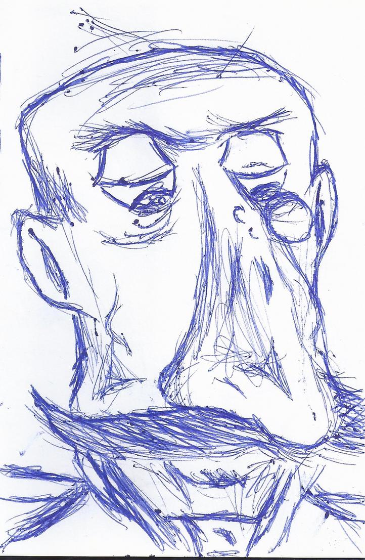 Sketchbook Showcase-Caricature Butler by hobojoe93