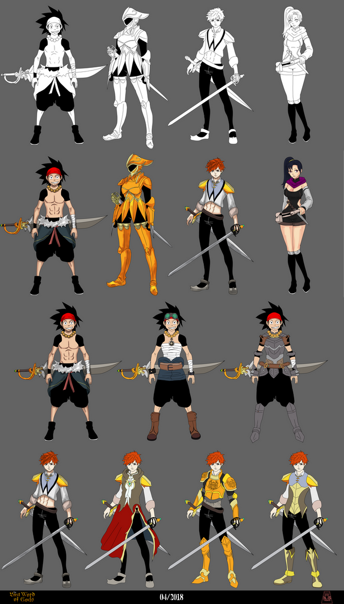 Characters Design 'The Last Word of Gods' by tahonard