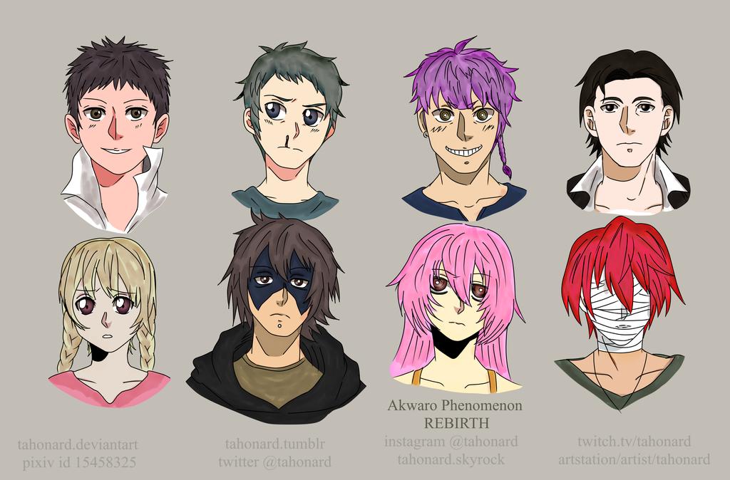 Characters (Akwaro Phenomenon REBIRTH) by tahonard