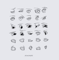 Eyes Sketch (Akwaro Bemien) by tahonard