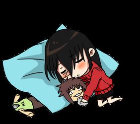 Chibi Akwaro sleep by tahonard