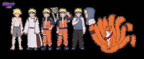 Naruto Uzumaki Character design by tahonard