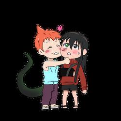 Zack hugs Akwaro