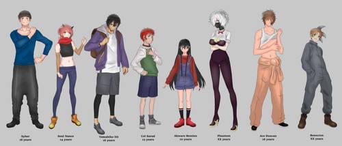 Final Characters design (Akwaro Unlimited)