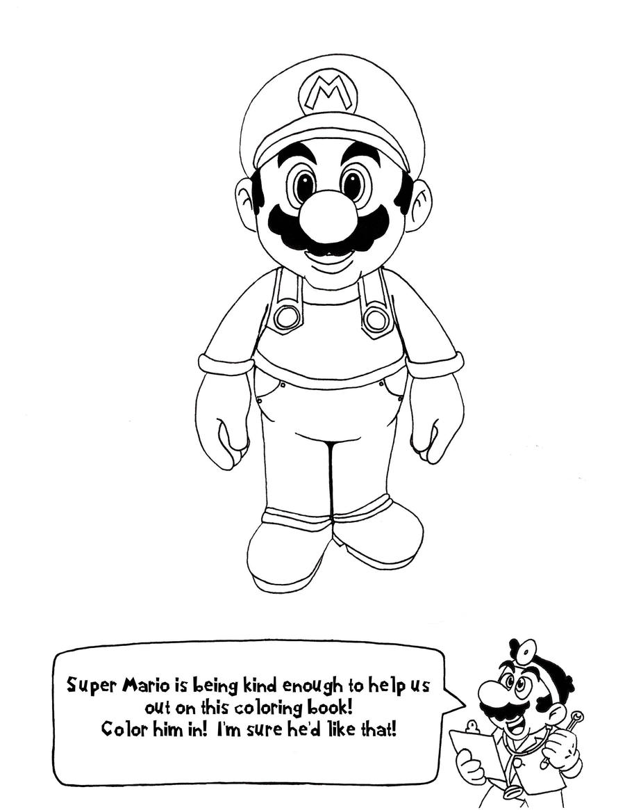 Doctor mario 39 s anatomy coloring book page 1 by for D is for doctor coloring page