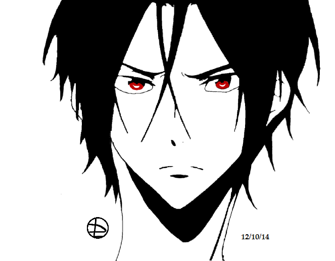 Rin Matsuoka Black A White By Rin Nightray On Deviantart He has short red hair and red eyes. black a white by rin nightray on deviantart