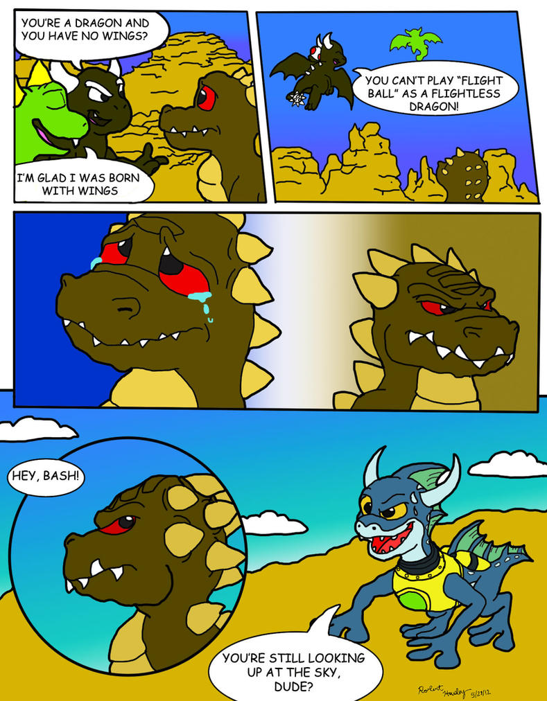 Here there be dragons comic part 3