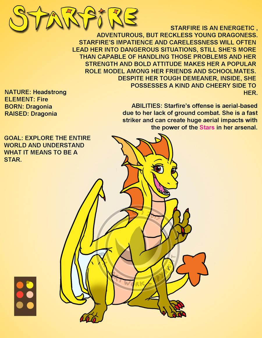 Starfire 'Starry' Dragon by oogaboogaz