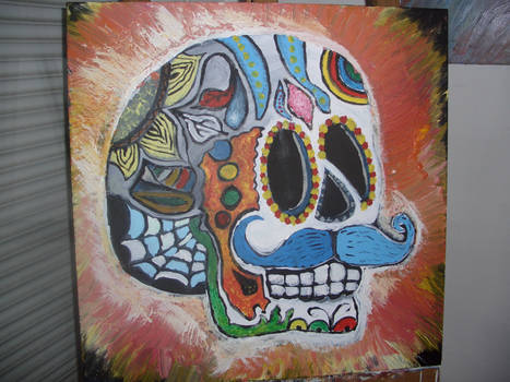 Mexican Skull Head v882 (acrylique)