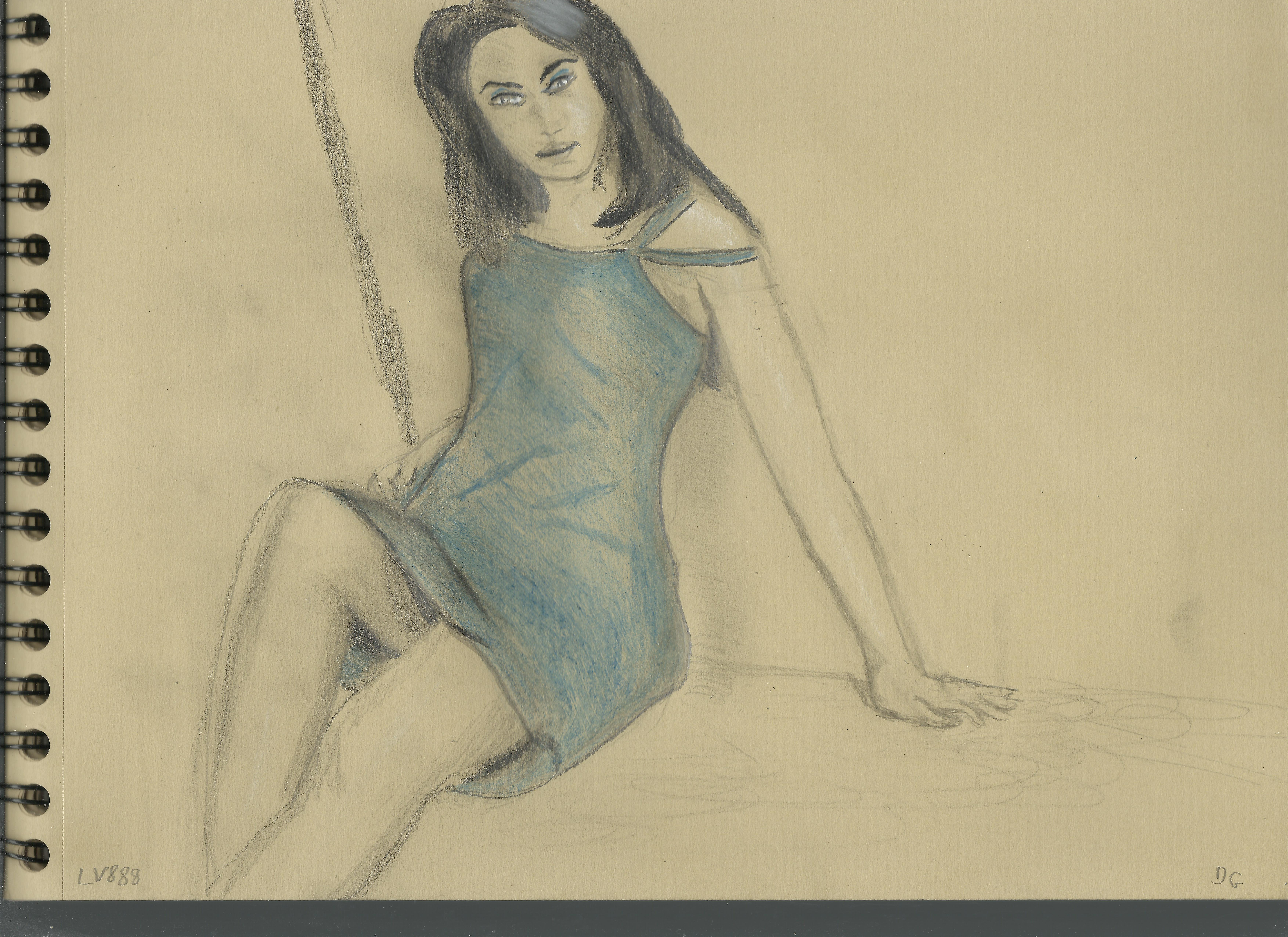 Kraft test - Woman in a Blue Dress v881 by lv888