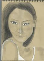 Kraft test - Woman face study n109bis by lv888