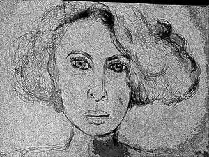 Woman face study n157