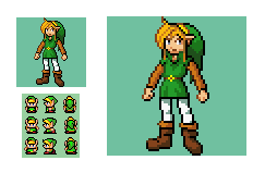 Link: Pokemon Trainer Sprite(TLOZ Echoes of Time) by InnerMobius