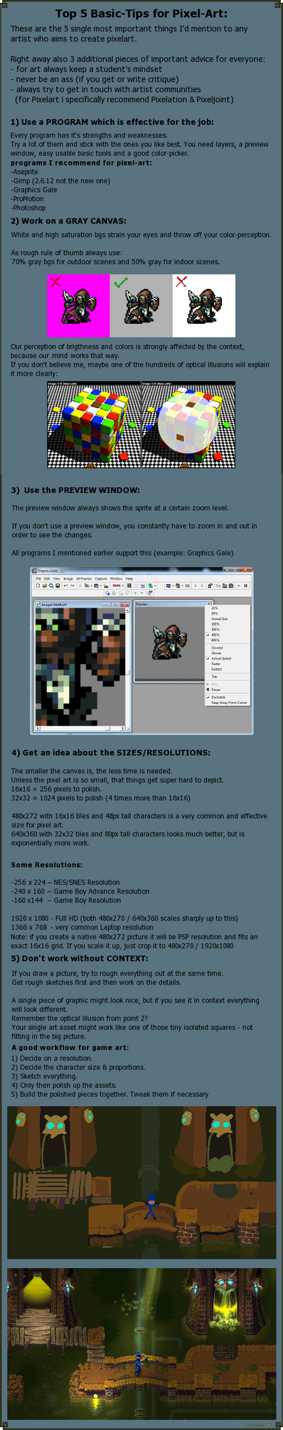 Top 5 Basic Tips for Pixel Art by Cyangmou