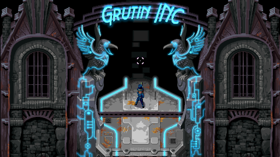 Grutin, incorporated, has a great art deco meets blue cybernetic look to it.