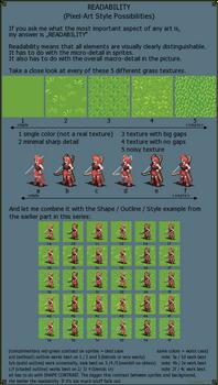 Readability - Pixel art Style possibilities