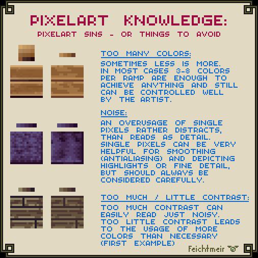 Pixelart Sins - Beginner Issues