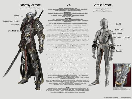 Fantasy Armor vs. Gothic Armor