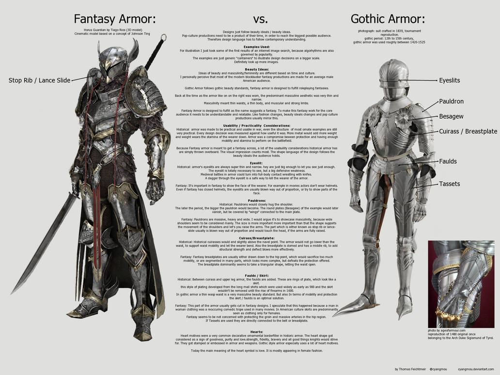 Fantasy Armor Vs Gothic Armor By Cyangmou On Deviantart-9710
