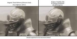 Demon's Souls - Fluted Helmet Realism Edit